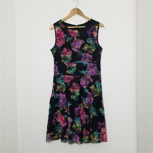 Tiana B. | Floral A-Line Lace Mini Dress Size 10